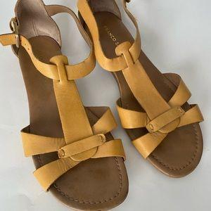 FRANCO SARTO Leather Sandals Mustard size 10